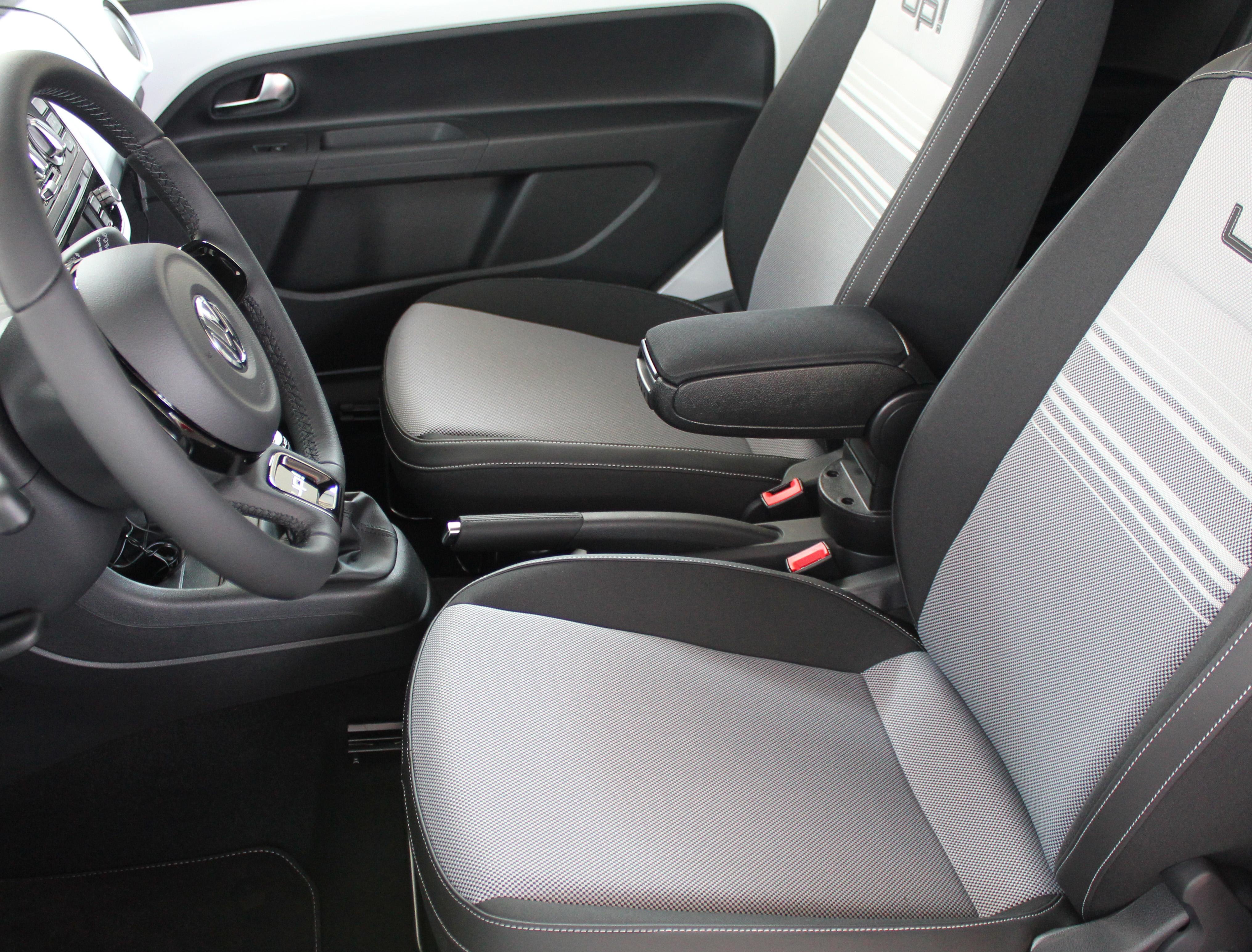 Für VW Up Mittelarmlehne Armlehne Schwarz Leder Passform ab 2011